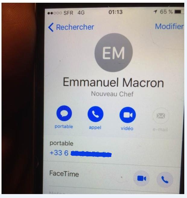 «Nouveau chef» : fuite du numéro personnel de Macron depuis le téléphone d'un journaliste