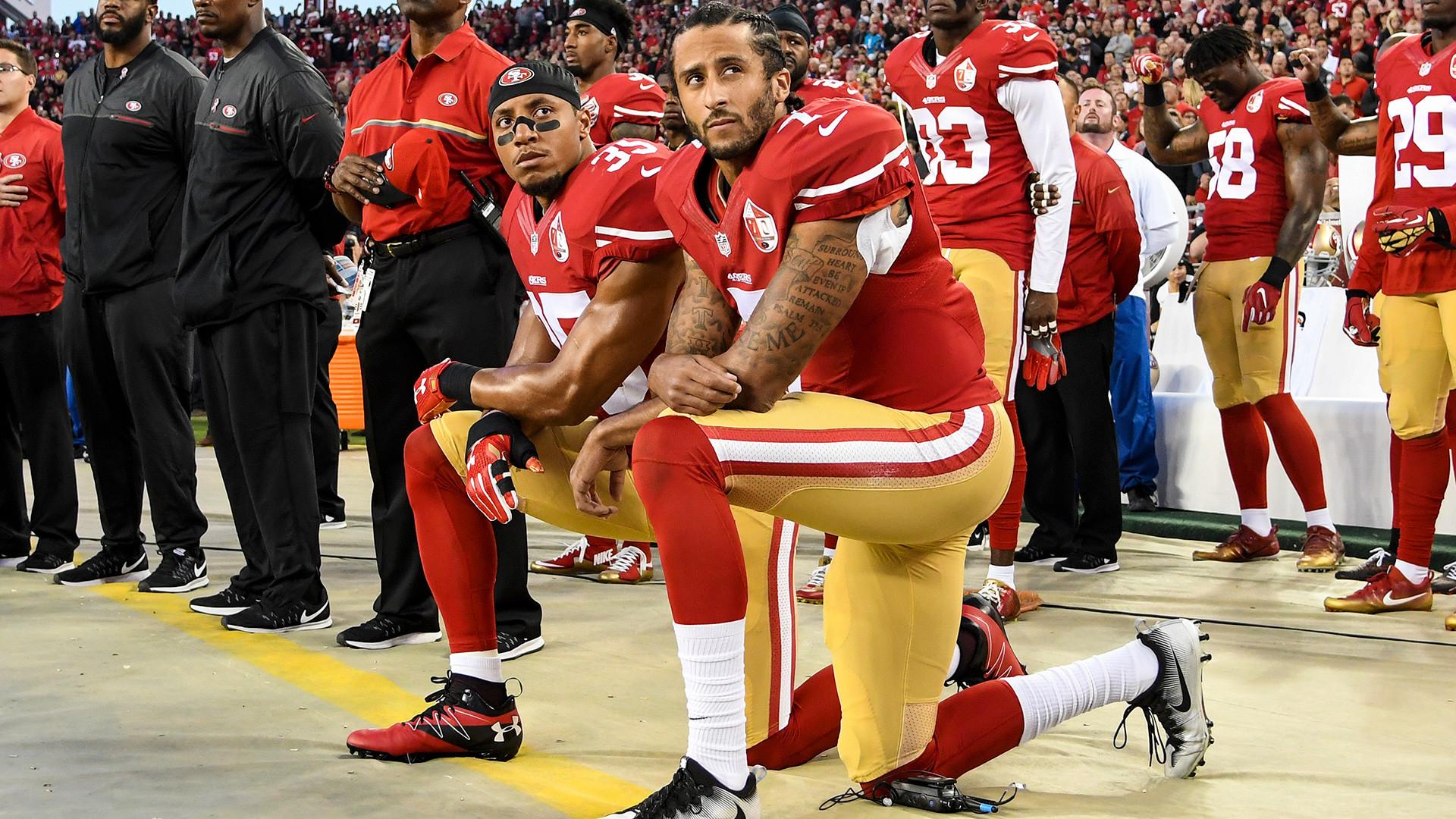 «Virez moi ces fils de p*te» : Trump s'en prend aux sportifs refusant de saluer l'hymne américain