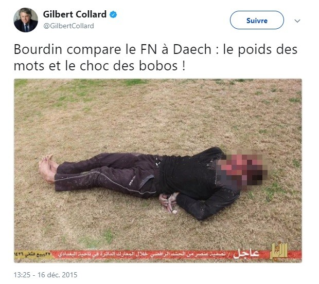 L'Assemblée nationale lève l'immunité de Collard après la diffusion d'une image violente de Daesh