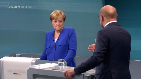 Le débat télévisé entre Angela Merkel et Martin Schulz