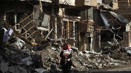 Dans les rues de Deir ez-Zor, assiégée par Daesh (photo d'archive)
