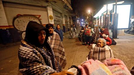 La secousse a été ressentie jusqu'à la capitale, Mexico, où les habitants se sont réunis dans les rues
