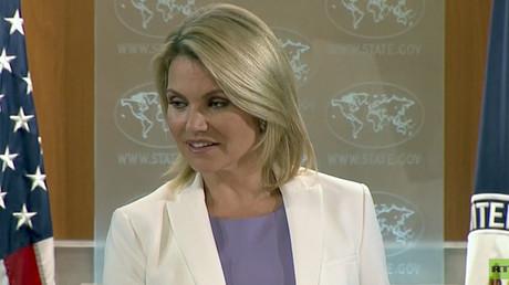 Heather Nauert, la porte-parole du Département d'Etat américain