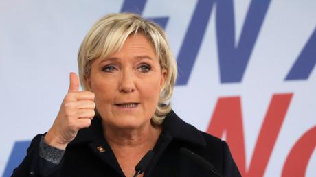 Marine Le Pen à Brachay le 9 septembre 2017.