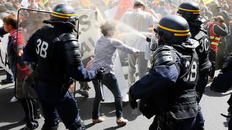 A Lyon la police charge après des débordements dans la manifestation anti-loi travail (VIDEOS)
