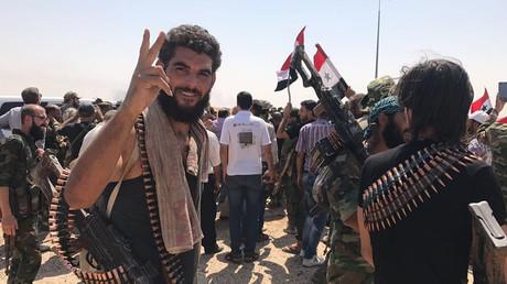 Les troupes syriennes après la défaite de Daesh à Deir ez-Zor