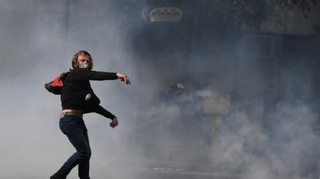 Manifestant à Paris