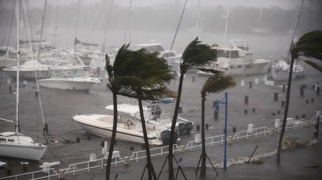 Plusieurs jours de déferlement de l'ouragan Irma à Miami en 80 secondes