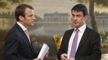 Manuel Valls et Emmanuel Macron en 2014 à l'Elysée