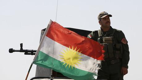 Un soldat kurde, à quelques kilomètres d'Erbil. Images d'archives.