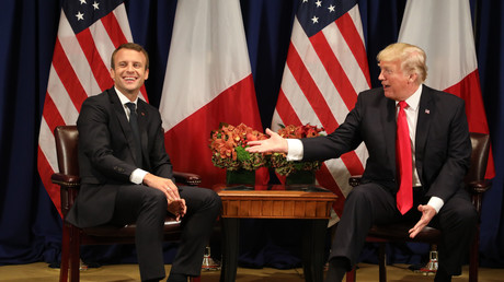 Emmanuel Macron et Donald Trump à New-York