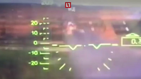 L'attaque effectuée accidentellement par un hélicoptère russe filmée depuis le cockpit (VIDEO)
