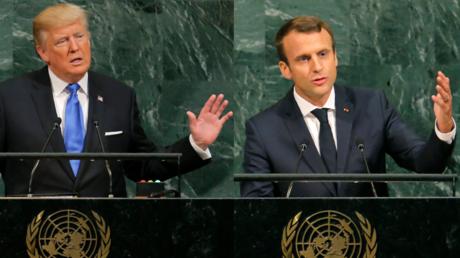 Emmanuel Macron et Donald Trump le 19 septembre 2017