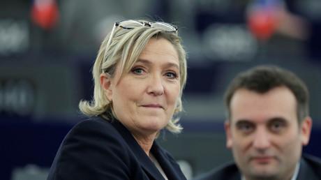 Marine Le Pen et son bras droit au Parlement européen de Strasbourg en janvier 2017