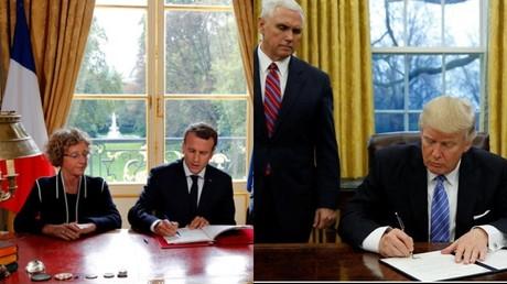 Emmanuel Macron signant les ordonnances en direct à la télévision, une américanisation de la politique française ?