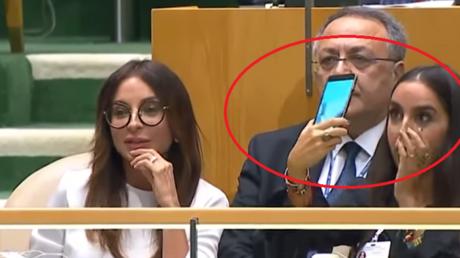 ONU : la fille du président azéri fait des selfies alors que son père dénonce un «génocide» (VIDEO)