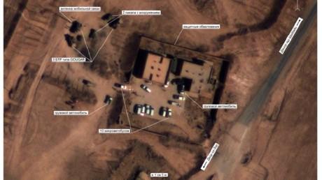 Dans des clichés qui auraient été pris entre le 8 et le 12 septembre en Syrie, le ministère russe de la Défense affirme avoir reconnu de nombreux véhicules de l'armée américaine dans une zone tenue par Daesh