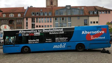 Bus de la campagne éléctorale de l'AfD