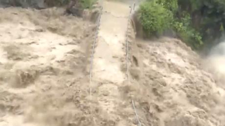 Le nord-ouest de la Chine inondé après des pluies torrentielles