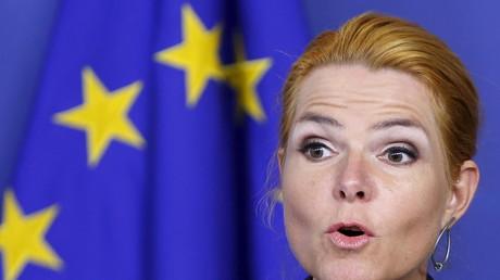 Inger Stojberg, ministre danoise de l'immigration et de l'intégration, à Bruxelles en 2016