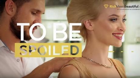 Capture d'écran d'une vidéo promotionnelle du site de sugar dating RichMeBeautiful