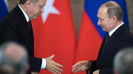 Une rencontre entre Recep Tayyip Erdogan et Vladimir Poutine à Moscou, en mars 2017