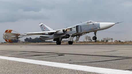 Un avion russe Su-24 en Syrie