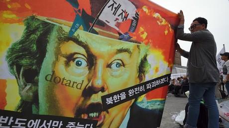 Manifestation de pacifistes contre les Etats-Unis à Séoul, en Corée du Sud, le 27 septembre 2017 (illustration) ©JUNG Yeon-Je / AFP