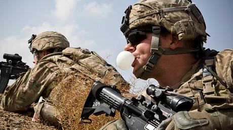 Des soldats de l'armée américaine dans le district de Maiwand, dans la province de Kandahar