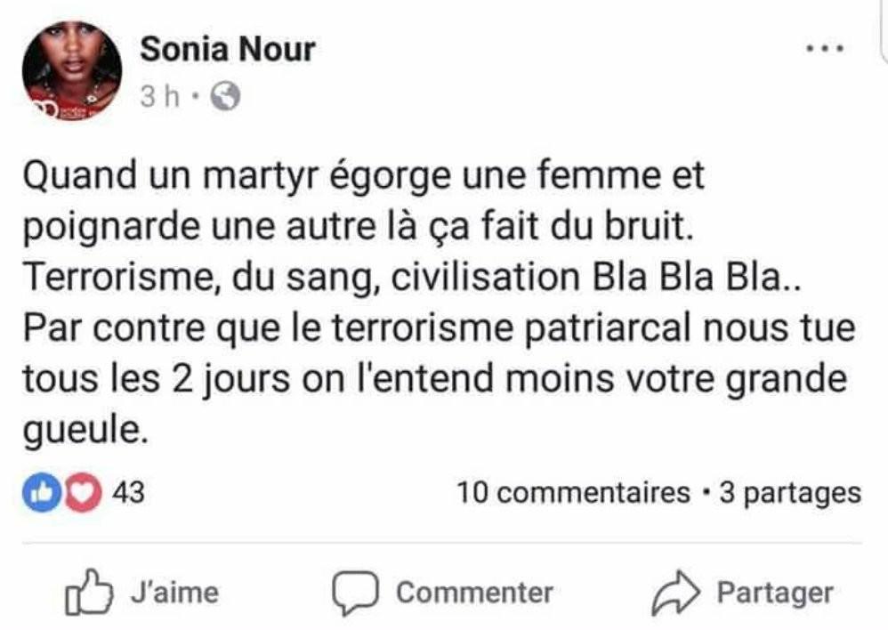 Terroriste «martyr» : la suppléante de Ruffin épinglée pour son «soutien total» à Sonia Nour