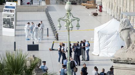 La police sur la scène de l'attaque à Marseille, le 1er octobre
