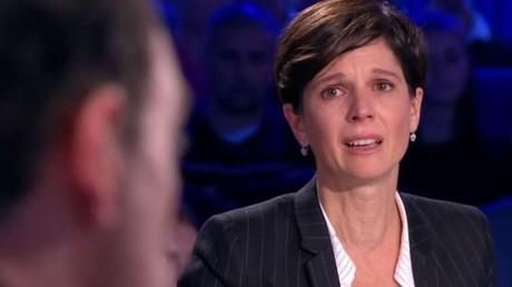 Sandrine Rousseau, en larmes durant l'émission