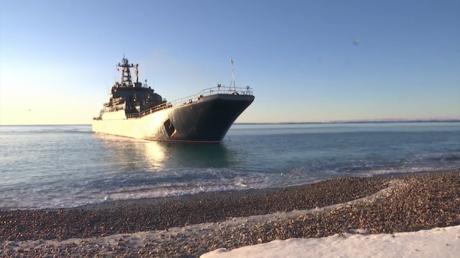 La flotte du nord présente ses exercices amphibies en Arctique