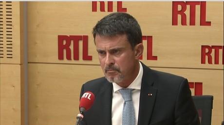 Manuel Valls dans les studios de RTL le 3 octobre