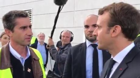 Emmanuel Macron et François Ruffin à l'usine Whirlpool