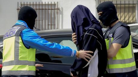 Arrestation d'un djihadiste présumé en mars 2017 en Espagne.