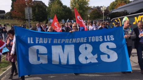 Les salariés de GM&S ont essayé d'interpeller le président à Egletons