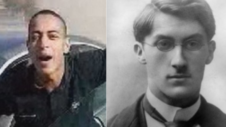 Mohamed Merah (à gauche) et Robert Hertz (à droite)