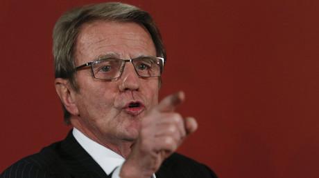 Bernard Kouchner à Rome en 2013