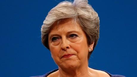 Theresa May lors du congrès du parti conservateur le 4 octobre 2017 à Manchester.