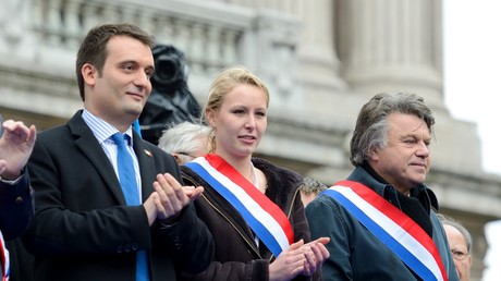 Florian Philippot, Marion Maréchal-Le Pen et Gilbert Collard en 2013 (illustration).