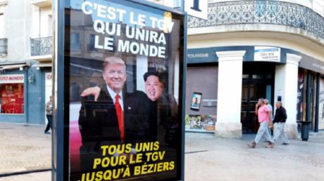 Donald Trump et Kim Jong-un côte à côte... pour soutenir le passage du TGV à Béziers
