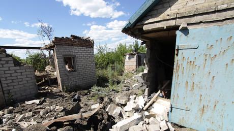 Des destructions dans la région de Donetsk, en juin 2017
