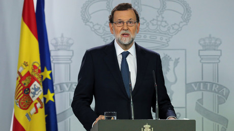 Mariano Rajoy, le 11 octobre 2017, photo ©Sergio Perez/Reuters