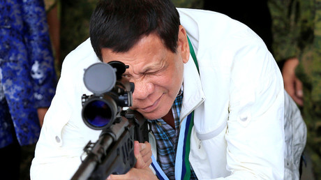 Illustration : Rodrigo Duterte en juin 2017, photo ©Romeo Ranoco/Reuters