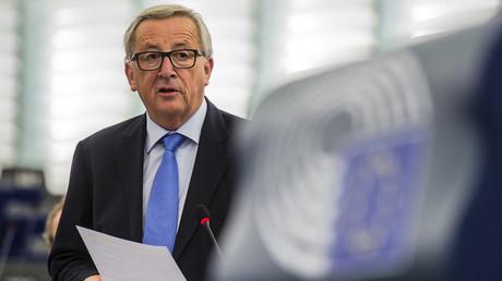 Jean-Claude Juncker, président de la Commission européenne, le 3 octobre 2017, photo ©PATRICK HERTZOG / AFP