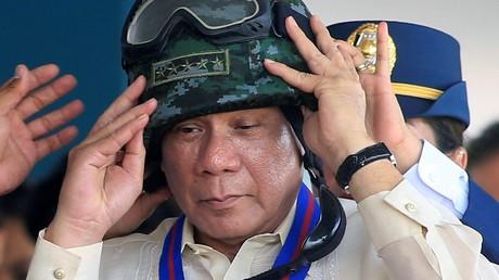 Le président philippin Rodrigo Duterte, lors de la fête du 116e anniversaire de la police du pays, à Manilles (illustration).