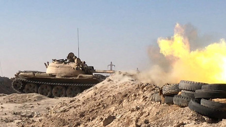 Char de l'armée syrienne durant l'offensive de Deir ez-Zor (illustration).
