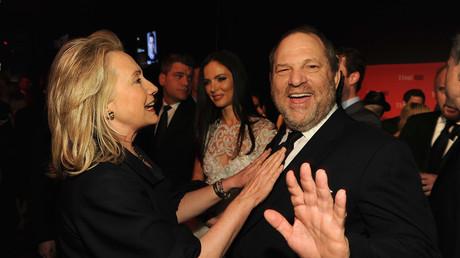 Hillary Clinton et Harvey Weinstein au Gala du Times en avril 2012.
