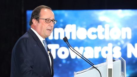 François Hollande au World Forum Knowledge